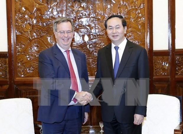 Presidente vietnamita elogia aportes de embajador espanol a nexos bilaterales hinh anh 1