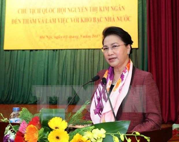 Presidenta del Legislativo reclama un mayor papel del sector financiero hinh anh 1