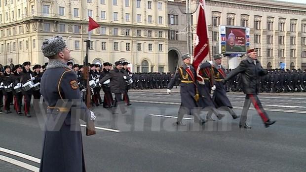 Ministro de Vietnam asiste a 100 aniversario de la Policia de Belarus hinh anh 1