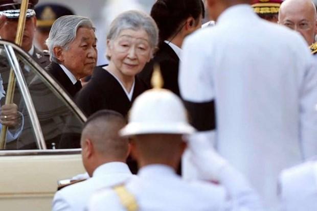 Emperador de Japon rinde homenaje al rey Bhumibol de Tailandia hinh anh 1