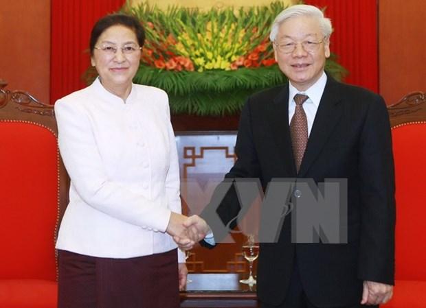 Lider partidista de Vietnam pide fortalecer nexos legislativos con Laos hinh anh 1