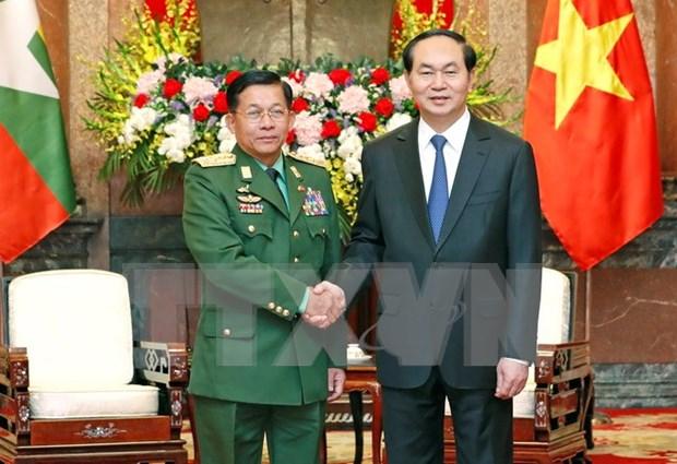 Vietnam y Myanmar fortalecen cooperacion en defensa hinh anh 1