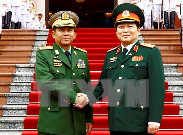 Vietnam y Myanmar fomentan cooperacion en defensa hinh anh 1