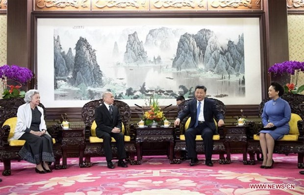 Presidente de China se reune con Rey de Camboya hinh anh 1