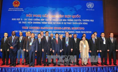 Inauguran en Vietnam reunion de ONU sobre facilitacion de transporte y comercio hinh anh 1