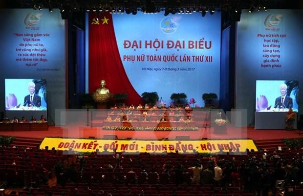 Inauguran en Vietnam el XII Congreso Nacional de las Mujeres hinh anh 1