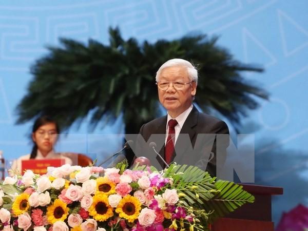 Lider partidista destaca proteccion de derechos y empoderamiento de mujeres hinh anh 1