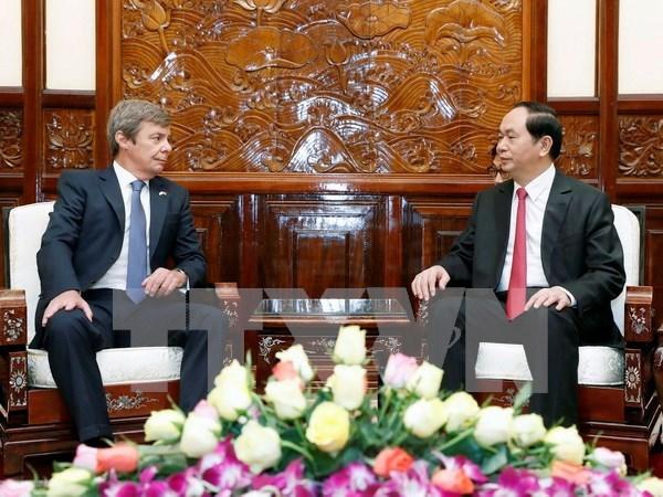 Presidente de Vietnam aspira a elevar intercambio comercial con Argentina hinh anh 1