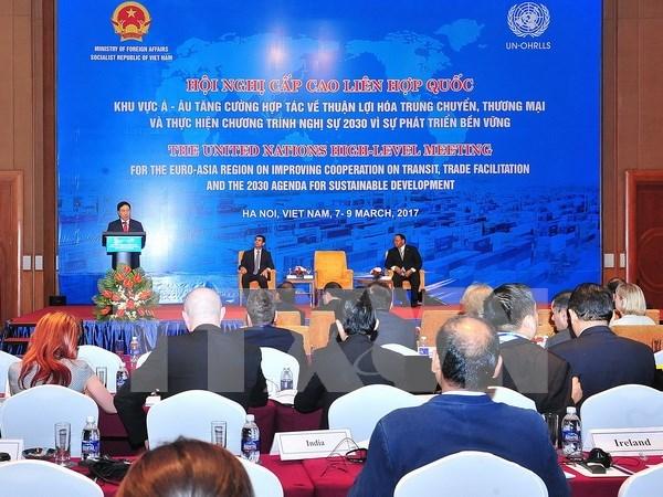 Funcionarios de alto nivel de ONU debaten en Vietnam sobre facilitacion del comercio hinh anh 1