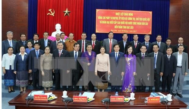 Presidenta del parlamento laosiano conoce experiencias vietnamitas en gestion de organismos electivos hinh anh 1