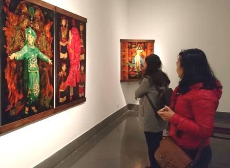 Culto a las Diosas Madres de Vietnam en pinturas de laca hinh anh 1