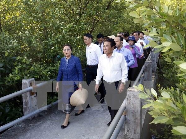 Presidenta parlamentaria de Laos concluye visita a Vietnam hinh anh 1