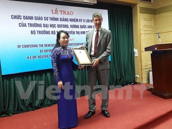 Ministra vietnamita recibe titulo de Oxford por segunda vez hinh anh 1