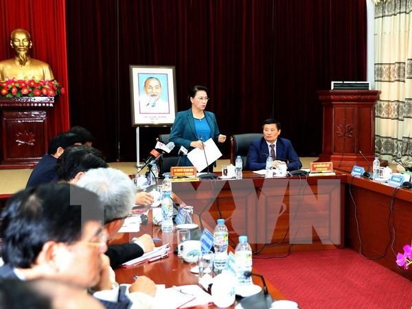 Presidenta parlamentaria de Vietnam visita provincia nortena de Lai Chau hinh anh 1