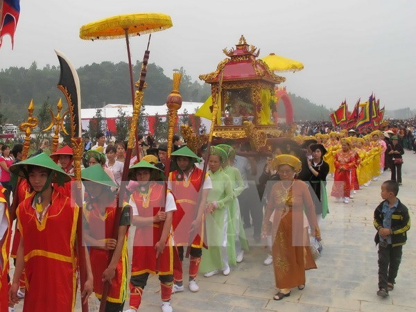 Gran concurrencia a festival Tay Thien, uno de los mayores en el norte de Vietnam hinh anh 1