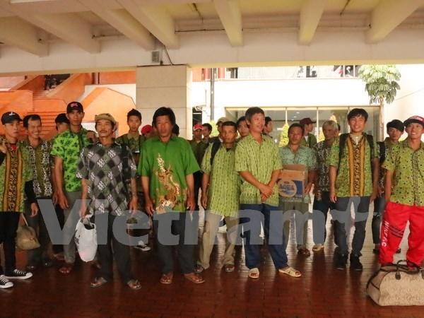 Repatrian a pescadores vietnamitas detenidos en Indonesia hinh anh 1