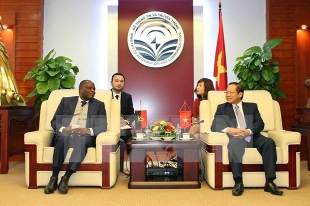 Vietnam y Angola cooperan en sector de telecomunicaciones hinh anh 1