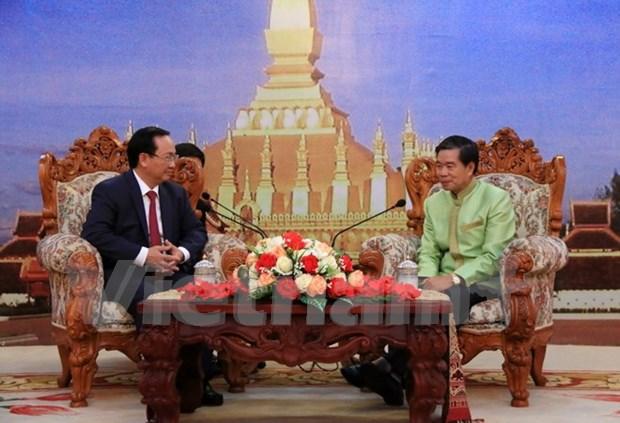 Capitales de Vietnam y Laos refuerzan nexos bilaterales hinh anh 1