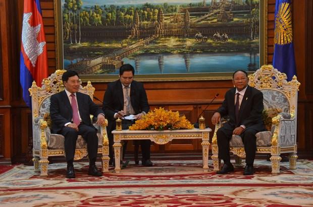 Destacan cooperacion entre Vietnam y Camboya hinh anh 1