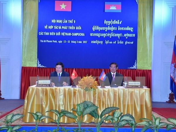 Acuerdan Vietnam y Camboya aumentar cooperacion transfronteriza hinh anh 1