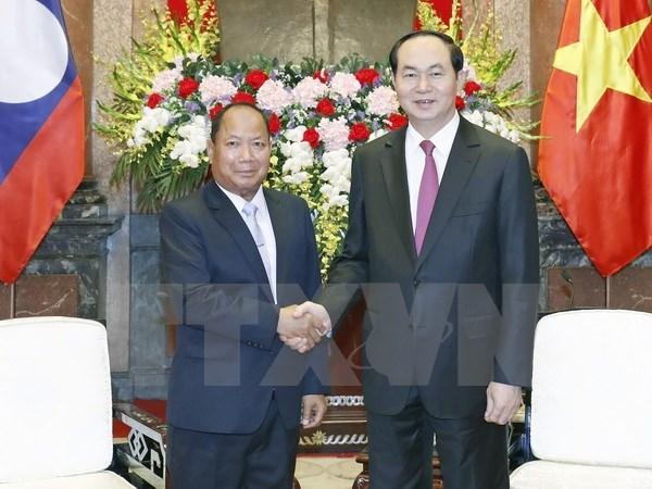 Insta presidente vietnamita a impulsar la colaboracion en seguridad con Laos hinh anh 1