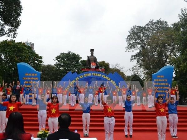 Union juvenil vietnamita conmemorara aniversario de su fundacion hinh anh 1