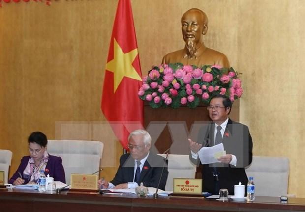 Comite del Parlamento vietnamita continua debates sobre proyectos legales hinh anh 1