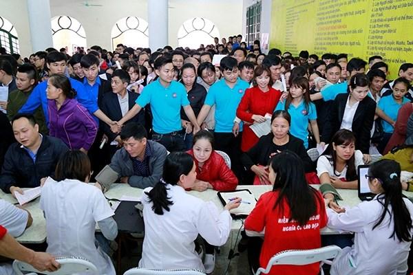 Phu Tho recauda unas mil unidades de sangre durante Festival de Primavera Roja hinh anh 1