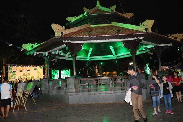 Hanoi se tine de verde en el Dia de San Patricio hinh anh 1