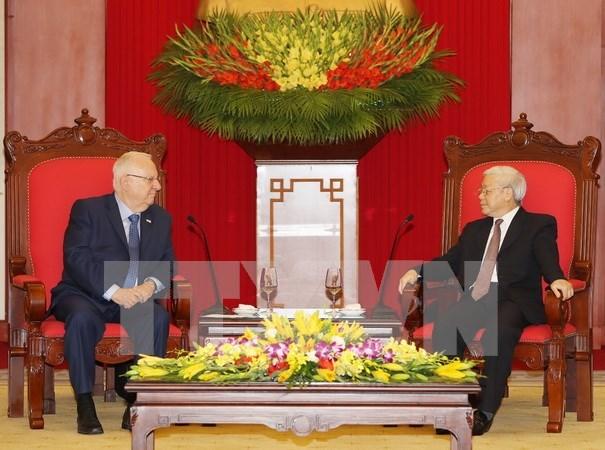 Lider partidista de Vietnam destaca cooperacion con Israel hinh anh 1