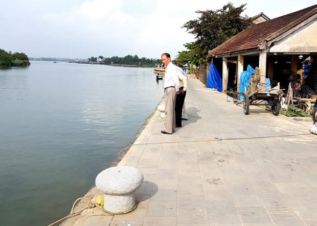 Inauguran rompeolas protectora en villa antigua de Hoi An hinh anh 1