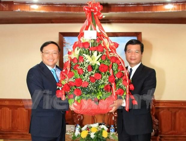 Promueven nexos de solidaridad especial Vietnam-Laos hinh anh 1