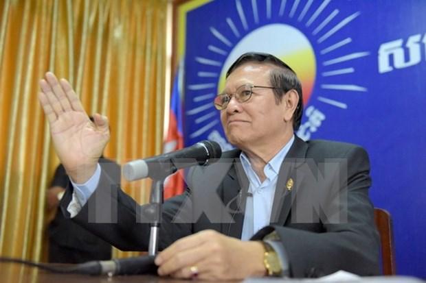 Ministerio del Interior de Camboya anula nuevo comite directivo de partido opositor hinh anh 1