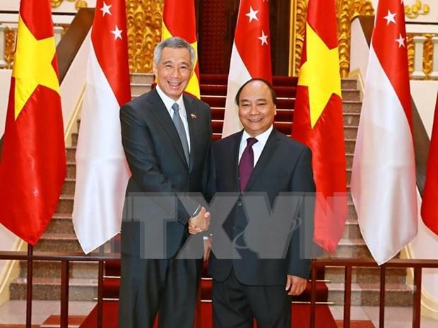 Lazos comerciales, pilar de asociacion estrategica Vietnam- Singapur hinh anh 1