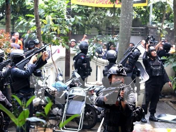 Indonesia detiene a sospechosos que intentan establecer campo de entrenamiento yihadista hinh anh 1