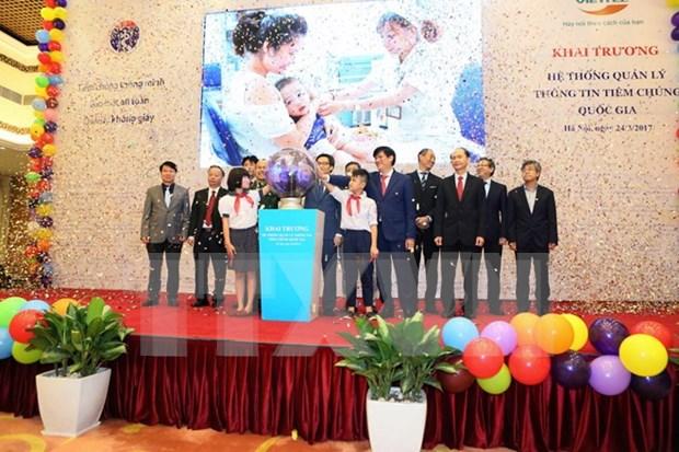 Ponen en operacion en Vietnam sistema nacional de gestion de vacunacion hinh anh 1