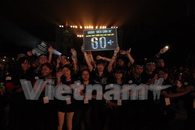 Hora del Planeta: Vietnam ahorra 471 mil kWh de electricidad hinh anh 1
