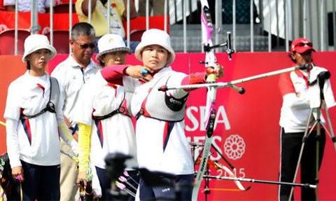 Deportista vietnamita se corono en Copa Asiatica de Tiro con arco 2017 hinh anh 1