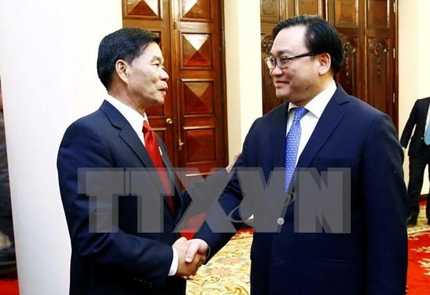 Hanoi y Vientiane buscan aumentar cooperacion hinh anh 1