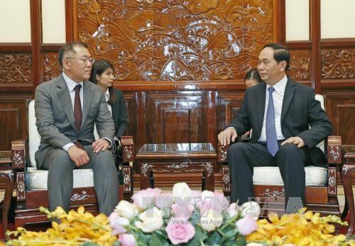 Presidente de Vietnam pide a grupo Hyundai Motor ampliar sus negocios en el pais hinh anh 1