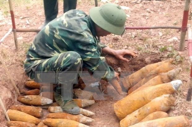 Inician curso de desactivacion de bombas para fuerzas vietnamitas de mantenimiento de paz hinh anh 1