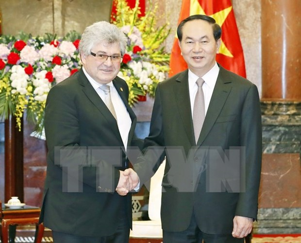 Presidente de Vietnam recibe a ejecutivo de AFP hinh anh 1