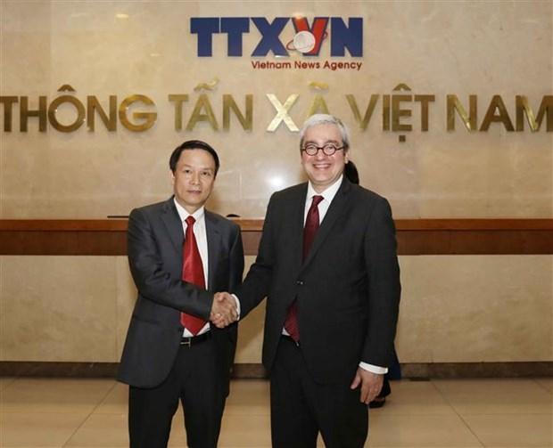 Agencia vietnamita de Noticias desea cooperar con AFP en formacion de periodistas hinh anh 1