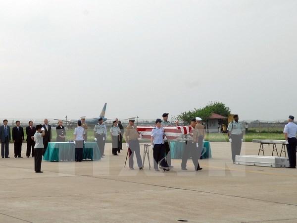 Vietnam repatria restos de soldados estadounidenses desaparecidos en guerra hinh anh 1