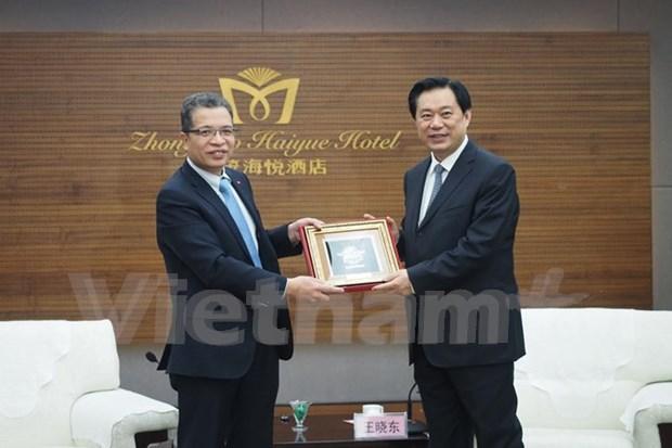 Provincias de Vietnam y China buscan mayor cooperacion comercial hinh anh 1