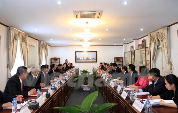 Fortalecen cooperacion entre Oficinas Presidenciales de Vietnam y Laos hinh anh 1