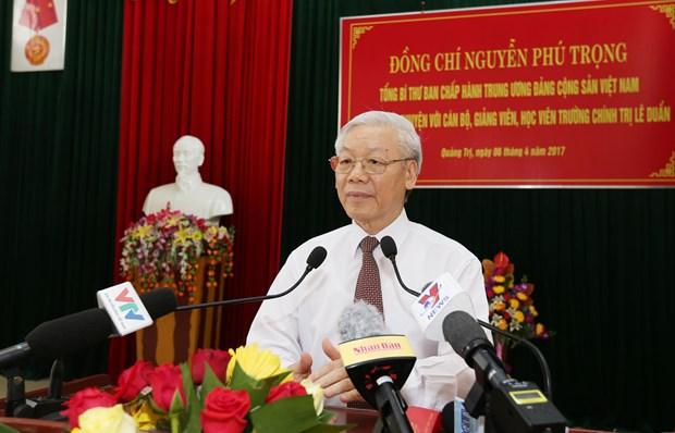 Lider partidista exhorta a Quang Tri a movilizar todos los recursos para el desarrollo hinh anh 1