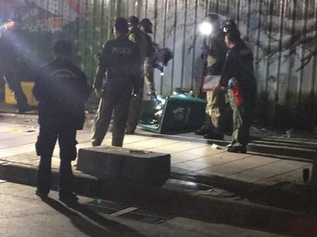 Tailandia: Dos heridos en una explosion de bomba en Bangkok hinh anh 1