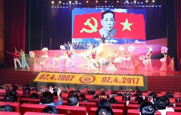 Conmemoran aniversario 110 de natalicio de lider partidista vietnamita hinh anh 1