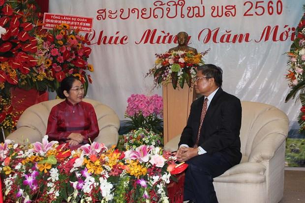 Ciudad Ho Chi Minh robustece relaciones integrales con provincias laosianas hinh anh 1